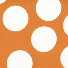 Big Dots in Tangerine - Moda House Designer - Half Moon Modern