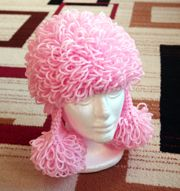 ~ Add It To Your Ravelry Queue or Favorites ~ Skill Level: Intermediate Size: Toddler, Child, Adult Supplies: Worsted weight yarn such as Red Hear Crochet Cap, Crochet Toys, Free Crochet, Crocheted Hats, Unique Crochet, Pink Poodle, Toddler Dog Costume, Yarn Wig, Costumes