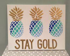 Pineapple Canvas von CreativiG auf Etsy