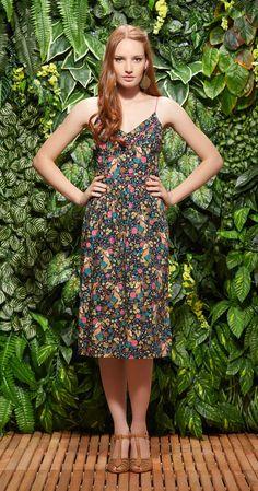 Vestido Midi Jardim dos Cervos | Vestuário | Antix Store