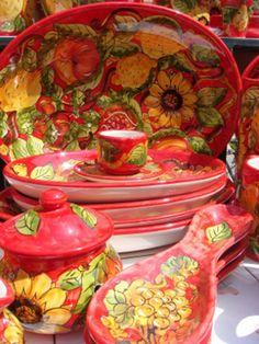 Italian Ceramics (Wow!)(And, Red.)