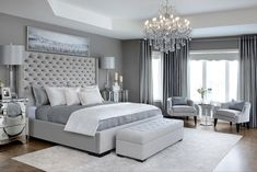 Home decor Glam Master Bedroom Kimmberly Capone Interior Design Black is still in for the Winter of Glam Master Bedroom, Master Bedroom Design, Home Decor Bedroom, Bedroom Ideas, Bedroom Designs, Bedroom Furniture, Bedroom Red, Bedroom Rustic, Large Bedroom