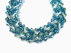 Swarovski Crystal Bracelet Seed Beads Delica Green by JoannGirls