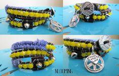 Summer boho- rock-chic 3 wrap bracelet, custom order by So cliché jewelry  https://www.facebook.com/soclichejewelry