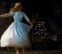 Inspiring animated gif 2015, blue, butterflies, cinderella, disney, dress, fairytale, graceful, hair, magic, new, princess,…