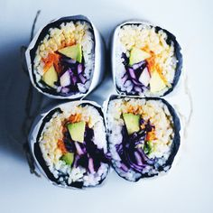 RECIPE : sushi burritos | cheap lazy vegan recipe swap | jenny mustard