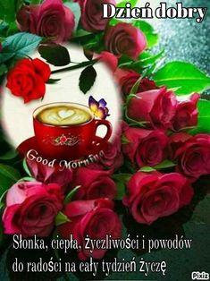 Good Morning Dear Friend, Good Morning Coffee, Floral Wreath, Awesome, Flowers, Plants, Decor, Friends, Roses