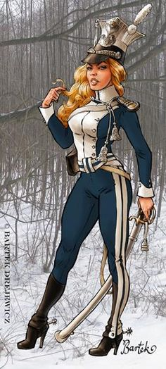 Bartek Drejewicz Military Women, Military History, Military Pins, Comic Book Artists, Comic Artist, Comic Art Girls, Arm Armor, Nose Art, Pin Up Art