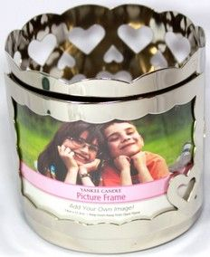 Yankee Candle Engravable Silver Heart Photo Frame Jar Holder - candle a deal websites Mom Died, Battery Operated Lights, Candle Accessories, Photo Heart, Discount Shopping, Bath And Body Works, Scented Candles, Dog Bowls, A Table