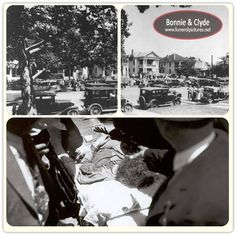 Bodies as they were first brought in. Bonnie And Clyde Bodies, Bonnie And Clyde Death, Bonnie And Clyde Photos, Bonnie Clyde, Retro Pictures, Old Pictures, Famous Outlaws, Public Enemies, Real Gangster