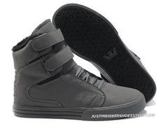 b675cc6be47b Supra TK Society All Grey Mens High Tops Supra Sneakers