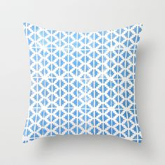 Hand Stamped Pattern  Throw Pillow by bohemian cupboards  - $20.00
