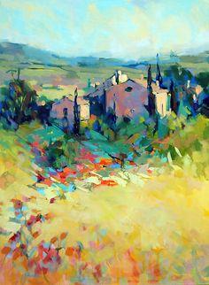 French Countryside by Trisha Adams Oil ~ 40 x 30