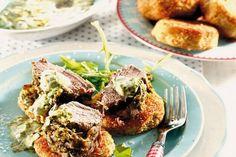 Zemiakové fašírky s bylinkovou pastou Pork, Beef, Kale Stir Fry, Meat, Pork Chops, Steak