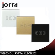 3 Gang 1Way Touch Switch Screen Crystal Glass Panel Switches UK Wall Light Switch For LED lamp Three Colors