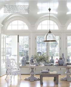 Painted White Dining Room Table Chandelier - Quick And Easy Home Decorating Ideas - House Beautiful White Dining Room, White Rooms, Beautiful Space, Beautiful Homes, House Beautiful, Beautiful Interiors, Home Theaters, Living Spaces, Living Room