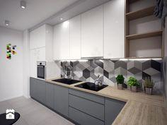 Kuchnia 1 - Średnia kuchnia w kształcie litery l, styl nowoczesny - zdjęcie od Interiors Dawid Zieja