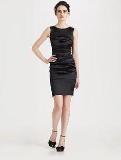 Черное шелковое платье короткое