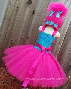 This listing is for a Poppy Troll inspired tutu dress and wig. Have a new request? Send it my way! See other Trolls inspired items here: