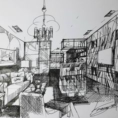 Living #Sketch #Design