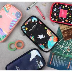 Wanna This Bon Bon zip around pocket multi pouch by Wanna This. The Bon Bon zip around pouch is a beautiful and useful zip around pouch. Cute Pencil Pouches, School Pencil Case, Cute Pens, Diy Tote Bag, Cute School Supplies, People Art, Stationery Design, Fabric Art, Cute Wallpapers