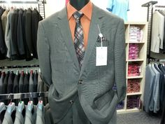 New spring two piece summer suit - Package sale price includes two piece suit, dress shirt, tie, belt and socks $149.95