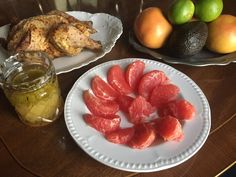 Ruby Red Grapefruits are filling, packed with vitamin C, and are now in season . This recipe may become an entree with the addition of roasted or grilled chicken, salmon (warm or cold), or shrimp. It's easy, healthy, and features many flavor components. Enjoy!