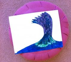 helping kids name & express their emotions through art & mindfulness using a wave metaphor #paintcutpaste