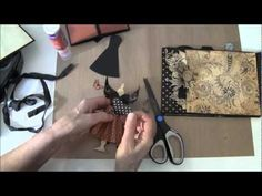 How to build a photo mini album with G45 Olde Curiosity Shoppe paper collection Part 16 - YouTube