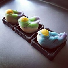 ☆(@crissren):「 和菓子,wagashi,山雀 #和菓子 #wagashi #japanesesweets 」