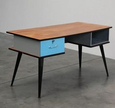 Office desk, ca. 1950's. by Willy Van Der Meeren.