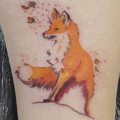 """Latest tattoo courtesy of @roryd1982  I'm in love. Can't wait for my next. #fox #tattoo #foxtattoo"""