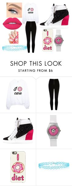 """I  CARE"" by destinie02t on Polyvore featuring Giuseppe Zanotti, Casetify, Monsoon and Lime Crime"