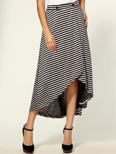 BCBGeneration - Stripe Maxi Skirt
