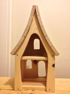 Children's wooden doll house by CottageFever on Etsy