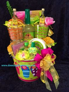Margarita Basket- 2 chevron insulated Acrylic glasses with lids & straws, margarita themed glass tray with 4 matching glass coasters & cheese spreader, 2 Jose Cuervo tequila gold ; Summer Gift Baskets, Best Gift Baskets, Gift Baskets For Women, Themed Gift Baskets, Raffle Baskets, Alcohol Gift Baskets, Liquor Gift Baskets, Alcohol Gifts, Margarita Gift Baskets