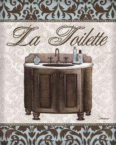 Posterazzi Modern Sink Canvas Art - Todd Williams x Vintage Diy, Vintage Crafts, Bathroom Prints, Bathroom Art, Bathroom Ideas, Bathrooms, Framed Art Prints, Poster Prints, Framed Artwork