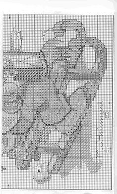 """Winter Fun"" Hummel cross stitch pattern, #2B"