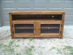 This is like another tv stand we make but has and enclosed top shelf on the back! Description from etsy.com. I searched for this on bing.com/images