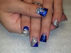 Dallas Cowboys Acrylic Nails Designs