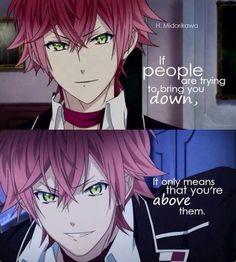 Ayato Sakamaki from Diabolik Lovers, I've seen it that way before