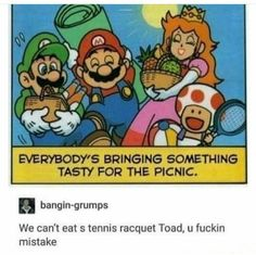 And Mario, CARPET IS NOT A FOOD