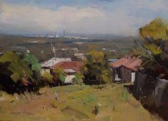 Colley Whisson A Brisbane Winter, Aust 9''x 12'' Oil