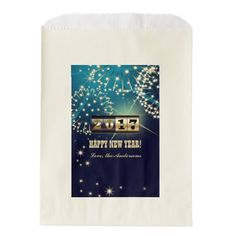 Elegant Festive New Year Counter Design 2017 New Year's Eve Party Personalized Favor Bags. Matching greeting cards, postage stamps and other products available in the Christmas & New Year Category of the Mairin Studio store at zazzle.com