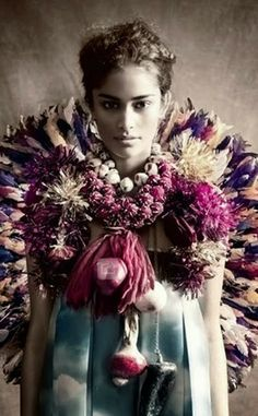 Kelly Wearstler rocking it with flowers. Please like http://www.facebook.com/RagDollMagazine and follow @RagDollMagBlog @priscillacita