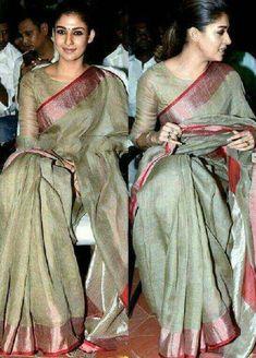 Sari Blouse, Cotton Saree Blouse, Silk Saree Blouse Designs, Saree Blouse Patterns, Tussar Silk Saree, Saree Dress, Pure Silk Sarees, Linen Blouse, Sambalpuri Saree