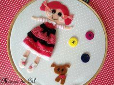 Quadrinho boneca Lalaloopsy.Para decoração de festa do tema ou decoração de quarto de menina. Tamanho 22 cm