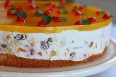 Tort diplomat cu iaurt grecesc si fructe | Gatitul e libertate! Romanian Desserts, Romanian Food, Romanian Recipes, Cake Recipes, Dessert Recipes, Torte Cake, Sweet Tarts, Something Sweet, Bakery