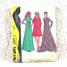 3377 McCalls Cut Complete Pattern 1972 Women by DartingDogPatterns