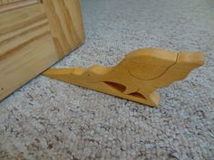 Wooden Dinosaur Door Wedge / doorstop | eBay